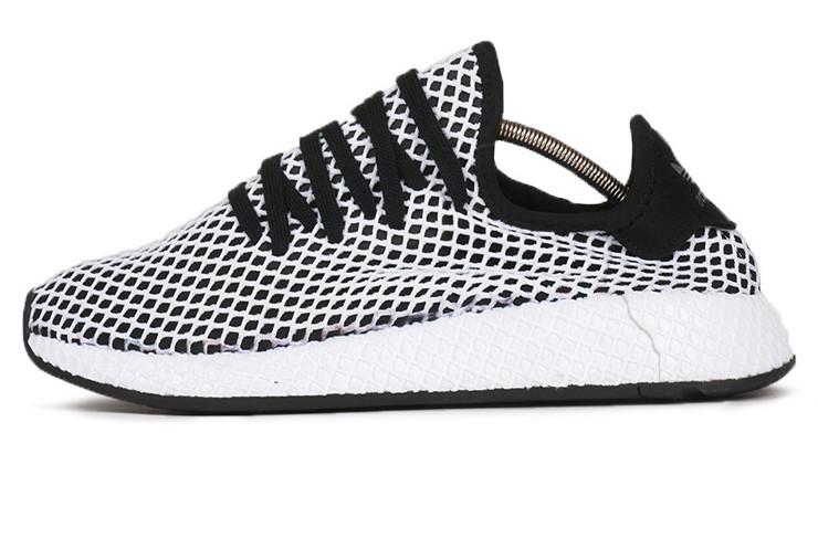 f4461830 Мужские кроссовки Adidas DEERUPT RUNNER White/Black (Реплика ААА+): ...
