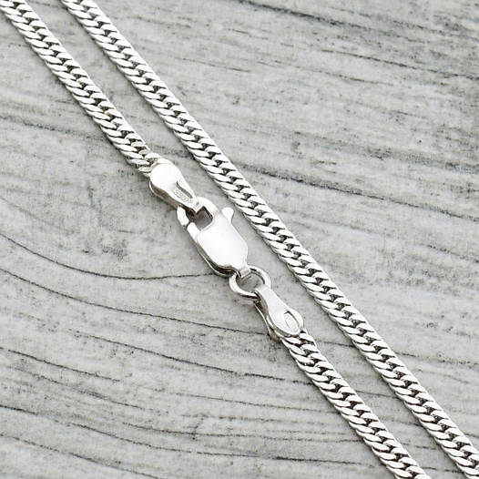 """Серебряная цепочка """"Двойная Панцирная"""", ширина 2.5 мм, длина 45 см, вес 6.3 г"""