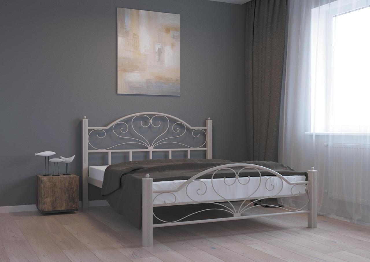 Кровать Джоконда бежевая структура 140*200 (Металл дизайн)