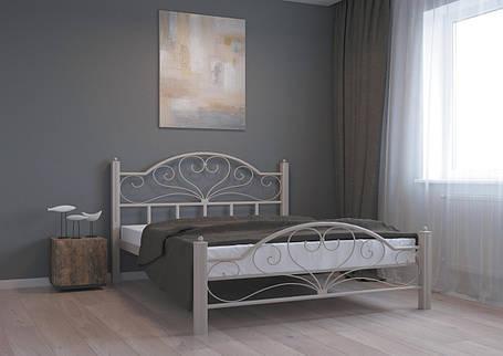 Кровать Джоконда бежевая структура 140*200 (Металл дизайн), фото 2