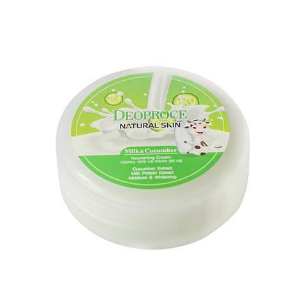 Питательный крем для лица и тела с экстрактом огурца DEOPROCE Natural Skin Cucumber Nourishing Cream, 100 мл, фото 2