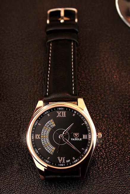Мужские наручные кварцевые часы Yazole-337 черный ремешок. - Valakum в  Херсонской области 86ac41d7fd6