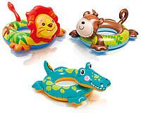 Детский надувной круг 58221, 3 вида(лягушка 89-69см, львенок 72-66см, дракончик 76-56см), фото 1