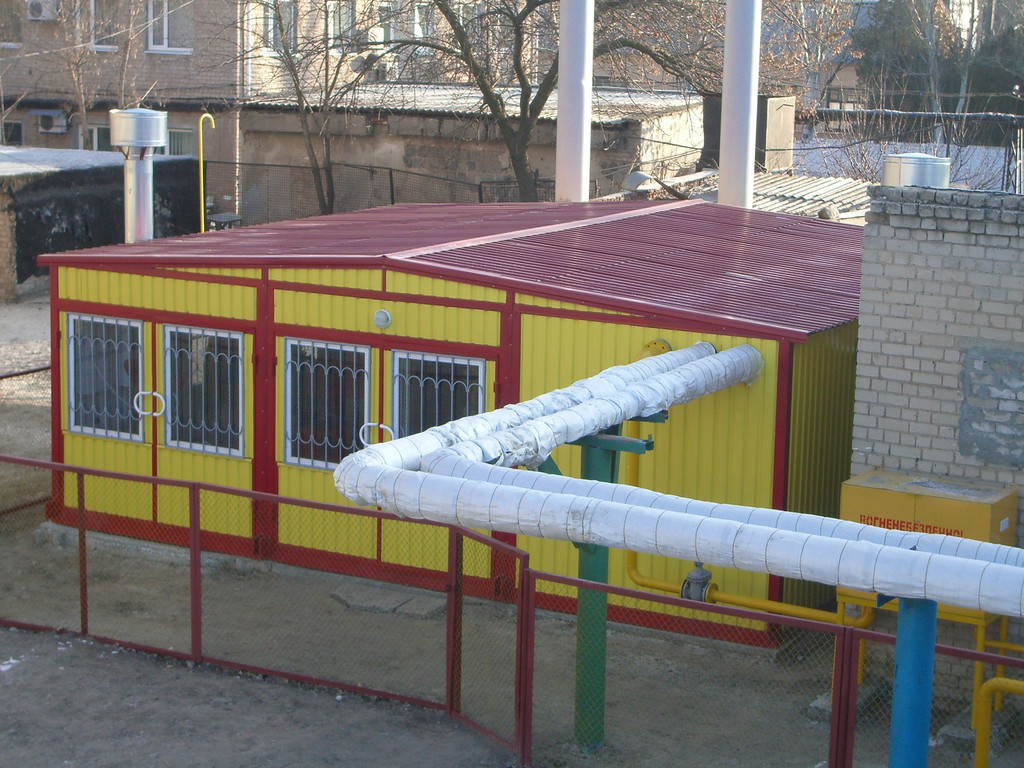 Газовая транспортабельная котельная 2,6 МВт КМ2-2600-Т/Гм КОЛВИ 1300 Запорожская обл. г. Мелитополь СШ № 25 и район нижней части города
