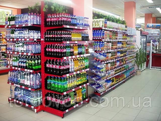 Новые торговые стеллажи для магазина. Стеллаж с металическими полками WIKO в магазин, фото 1