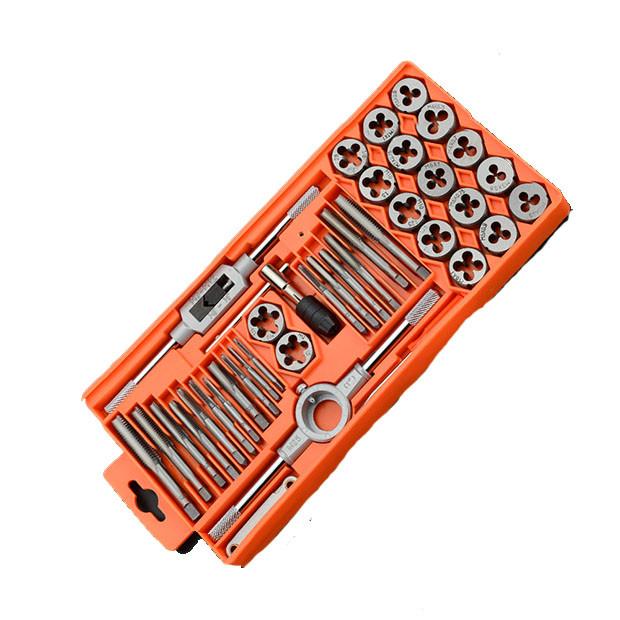 Проффесиональный резьбонарезной набор метчиков и плашек, 40 пр. Harden Tools 610459