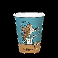 Одноразовый стакан, серия England, 400мл. 50шт/уп (1ящ/16уп/800шт) под крышку КВ90, фото 1