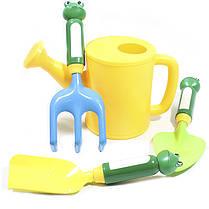 ☀Набор для садовника ZHENJIE КТ-906 Жабка детская игрушка для детей и игры в песочнице, фото 3