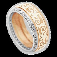 Обручальное кольцо с бриллиантами и эмалью Формигаль 18 000000455