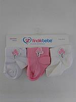 Детские летние носки для новорожденного, 3 шт. 0-3 мес. (Турция)