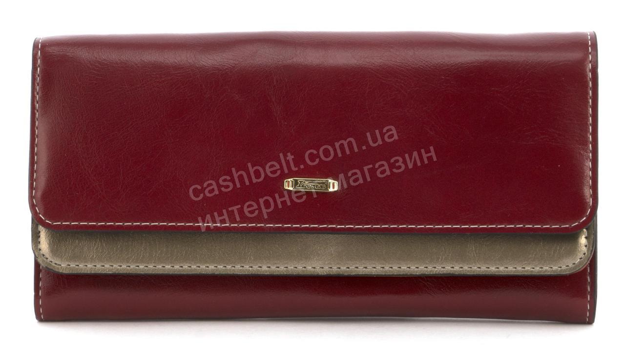 Міцний багатофункціональний жіночий міцний гаманець в два відкриття SARALYN art. C-1663 бордовий