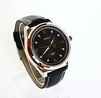 Мужские наручные часы Yazole-325 черный ремешок.