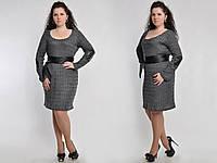 Платье вязанное 2049 с латками Волох