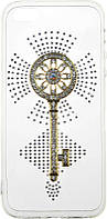 Чехол-накладка TOTO TPU case with stones iPhone SE/5/5S Key Transparent, фото 1