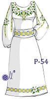 Заготовка платья под вышивку бисером №54