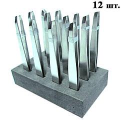 Пинцеты Металлические Скошенные №1716 Упаковкой 12 шт.