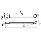 Ключ комбинированный узкий. Метрический Wurth, фото 2
