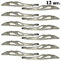 Пинцеты Косметические для Бровей Металлические с Крылышками Скошенные №1618, Упаковкой 12 шт.