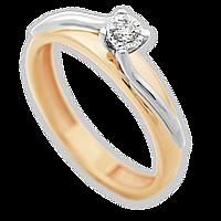 Золотое кольцо с бриллиантом Ингрид 17.5 000011037
