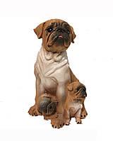 Садовая фигура Мопсы песочные 31 см