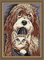 AT3019. Собака с котенком