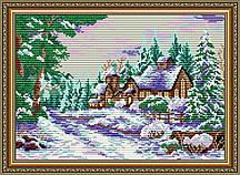 AT3020. Усадьба в зимнем лесу