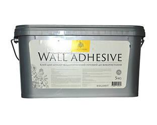 Клей для стеклохолста и стеклообоев KOLORIT WALL ADHESIVE дисперсионный 5кг