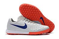 Бутсы сороконожки Nike MagistaX Finale II TF grey/orange, фото 1