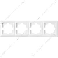 Рамка четырехместная Bylectrica Стиль 217 белая