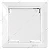 Розетка Bylectrica Стиль РС16-312 IP44 с заземлением и крышкой белая
