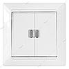 Выключатель двухклавишный Bylectrica Стиль С510-815 с подсветкой белый