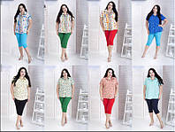 Рубашка летняя для крупных женщин, с 48-82 размер, фото 1