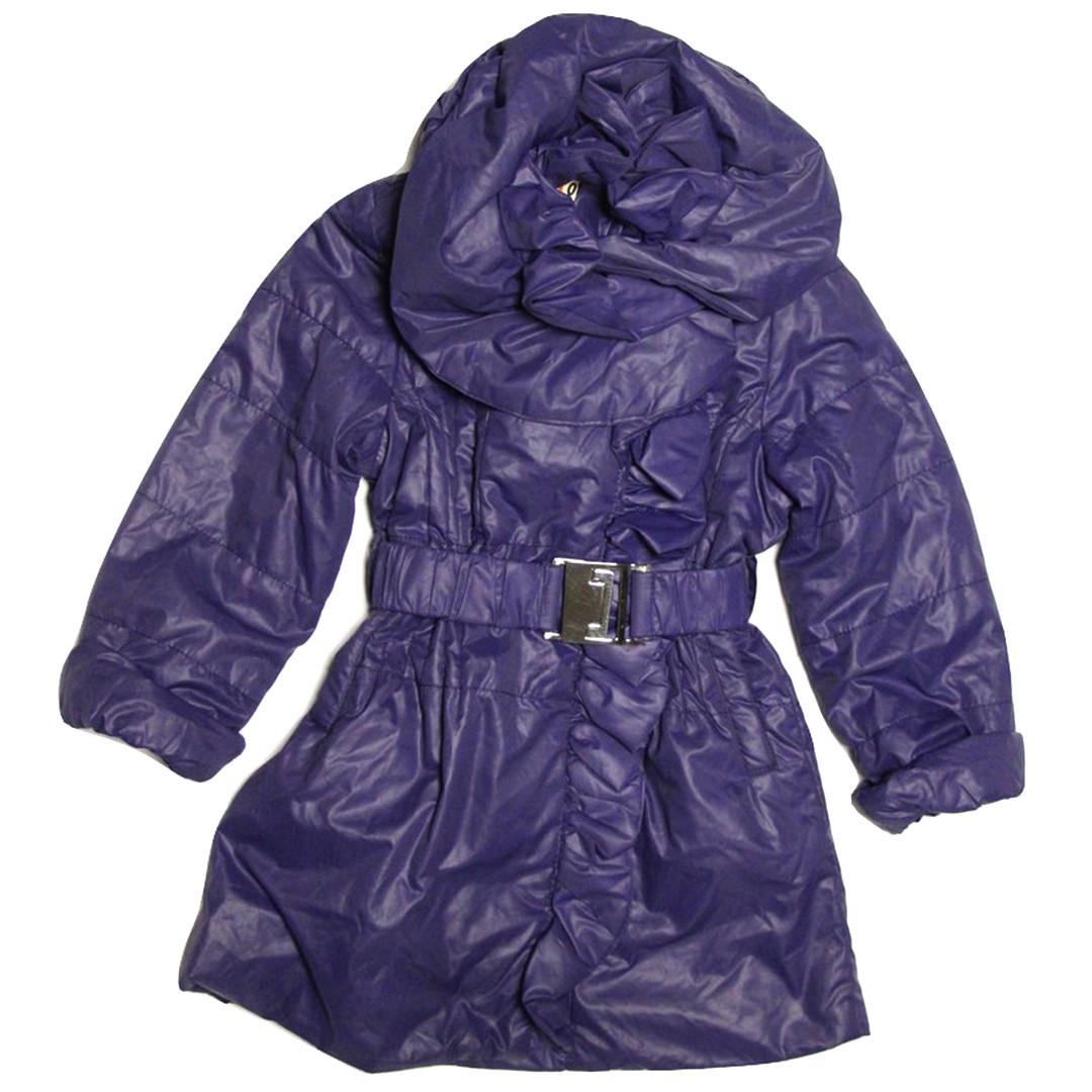 Дитячий плащик для дівчинки 98 зросту на флісі фіолетовий