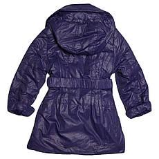 Дитячий плащик для дівчинки 98 зросту на флісі фіолетовий, фото 3