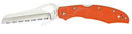 Нож Spyderco Byrd Large Rescue 2, серрейтор, оранжевый