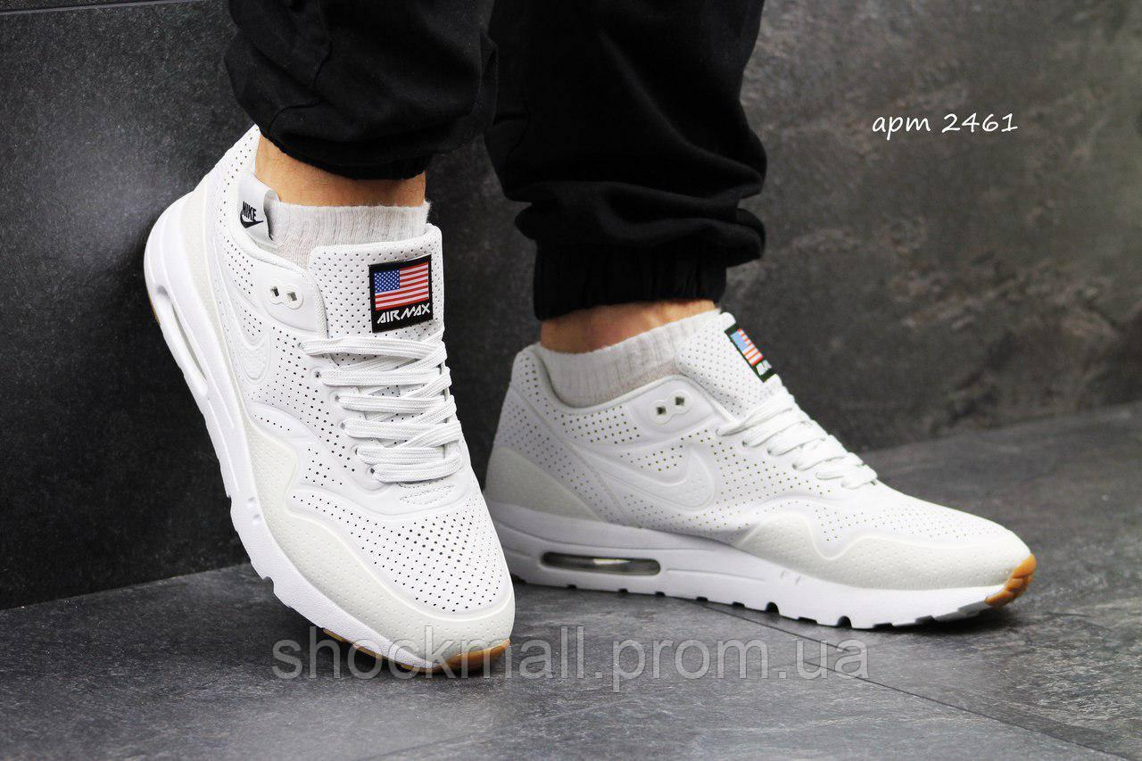 ed8129d3 Кроссовки Nike Air Max 1 Ultra Moire белые Reflective рефлективные  Индонезия реплика - Интернет магазин ShockMall