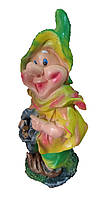 Садовая фигура Гном Болтик 40 см салатово-желтый