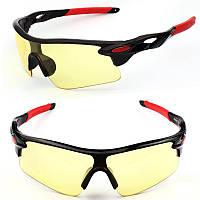 Очки спортивные Robesbon желтые тактические антифары велосипедные ... 5cc450da0ce92