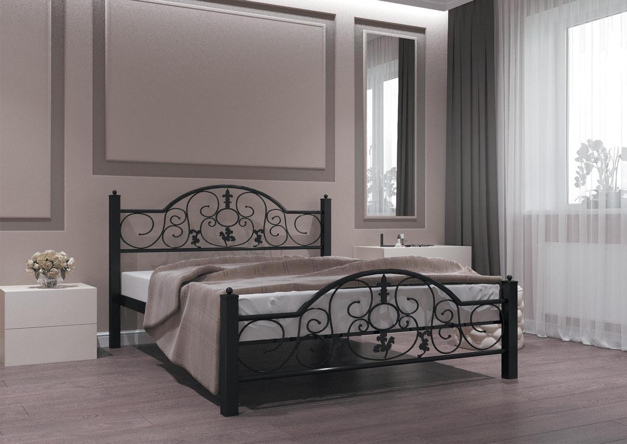 Кровать Жозефина черная 140*190 (Металл дизайн)