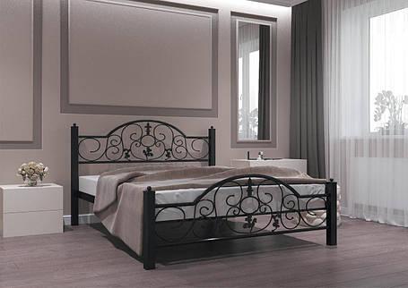 Кровать Жозефина черная 140*190 (Металл дизайн), фото 2