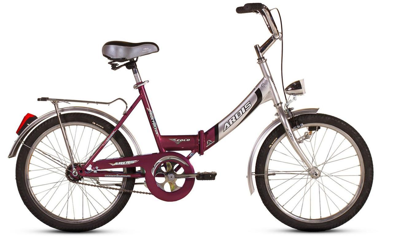 Велосипед ARDIS20 FOLD СК  б\осв. вишневый