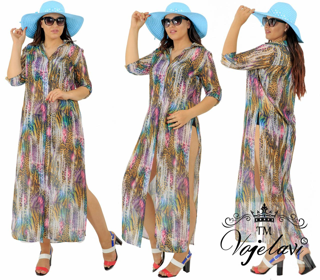8e8ea22b70b30 Пляжная женская рубашка на лето № 580 оптом и в розницу, пляжная ...