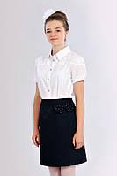 Подростковая блуза с кружевом 626-1