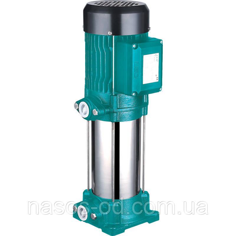 Насос центробежный многоступенчатый вертикальный Leo для воды 1.5кВт Hmax87м Qmax67л/мин