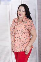 Женская летняя рубашка большого размера, с 48-82 размер, фото 1