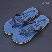 Пляжные тапочки вьетнамки Nike Just Do It синие