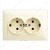 Розетка двойная Gunsan Visage G VS 2812150 с заземлением