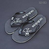 Пляжные тапочки вьетнамки Adidas черные