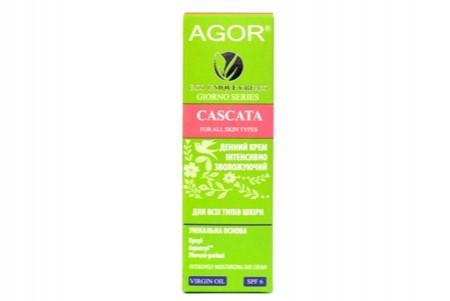 Крем денний CASCATA від Agor інтенсивно зволожуючий з SPF-фільтром