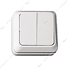 Выключатель двухклавишный LUXEL OPERA 2003 белый 10 шт
